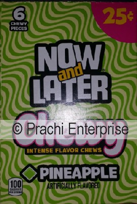 NOW AND LATER 25 CENTS CHEWY PINEAPPLE (24 CT)