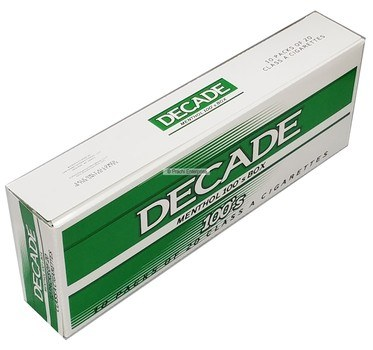 DECADE BOX MENTHOL-100 (10 CT)