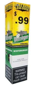DERRINGER 99 CENTS POUCH WINTERGREEN (10 CANS)
